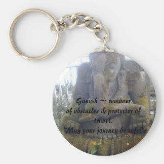 Lord Ganesh ~ remover of obstacles & prote... Basic Round Button Key Ring