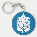 Lord Ganesha Basic Round Button Key Ring