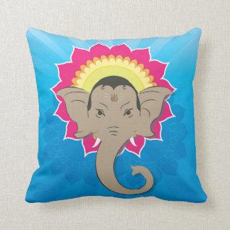 Lord Ganesha Digital Illustration Mandala Art Cushion