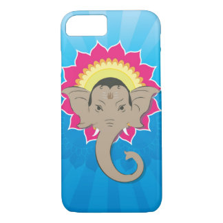 Lord Ganesha Digital Illustration with Mandala Art iPhone 8/7 Case