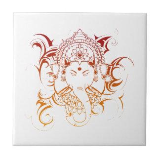 Lord Ganesha India Yoga Meditation Spirituality Small Square Tile