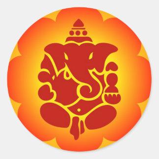 Lord Ganesha Round Sticker