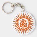 Lord Ganesha Sign Basic Round Button Key Ring