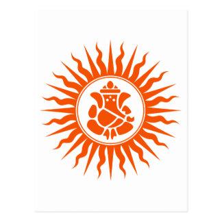 Lord Ganesha Sign Postcard