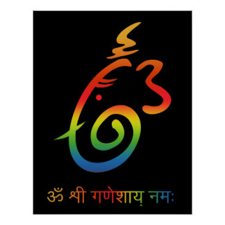 Lord Ganesha Sign Poster