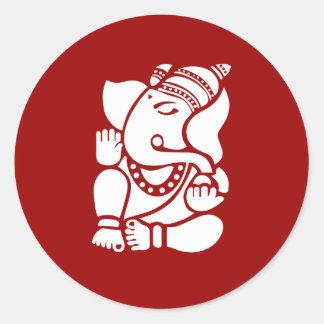 Lord Ganesha Sign Round Sticker
