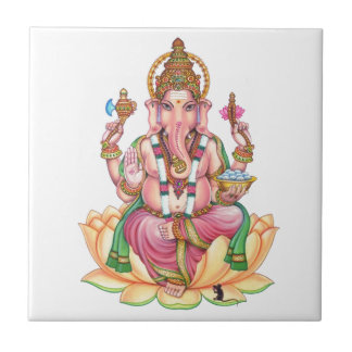 lord ganesha small square tile