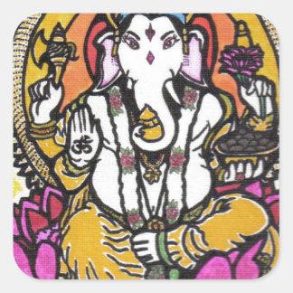 Lord Ganesha Square Sticker
