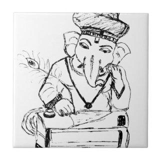 Lord Ganesha.tif Small Square Tile