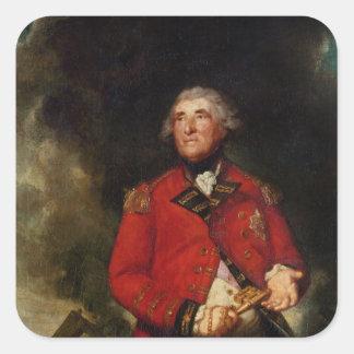 Lord Heathfield  Governor of Gibraltar Square Sticker