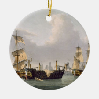 Lord Hotham's Action, March 14th 1795, engraved by Christmas Ornament