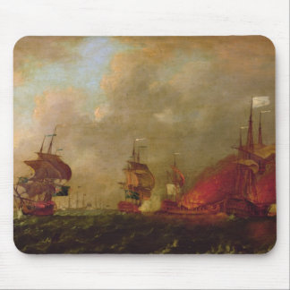 Lord Howe and the Comte d'Estaing off Rhode Mouse Mat