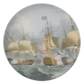 Lord Howe in the Queen Charlotte, Breaking the Ene Plate