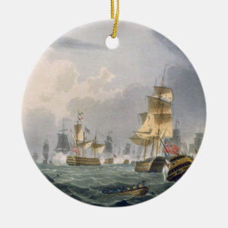 Lord Howe's Victory, 1st June 1794, engraved by Th Christmas Ornament