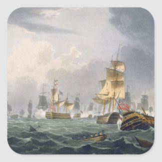 Lord Howe's Victory, 1st June 1794, engraved by Th Square Sticker