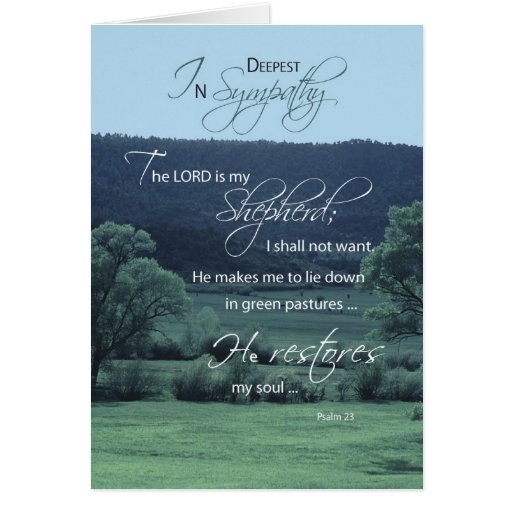 Lord is My Shepherd, Religious, Christian Sympathy Greeting Card
