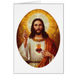 Lord Jesus Christ and the Sacred Heart Greeting Card