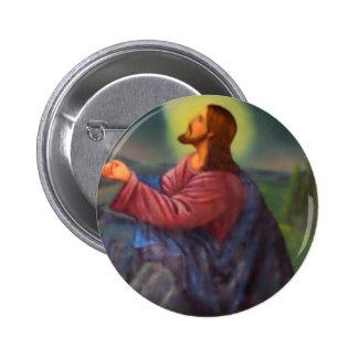Lord Jesus Christ Hand Painted Orthodox Icon 6 Cm Round Badge