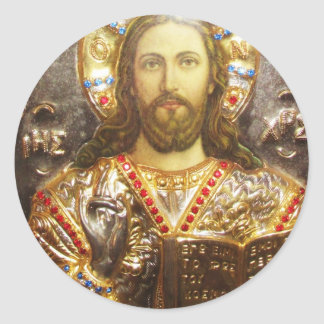 Lord Jesus Christ Orthodox Icon Classic Round Sticker