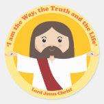 Lord Jesus Christ Round Stickers