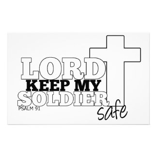 Lord Keep my Soldier Safe Stationary Customised Stationery
