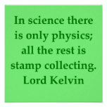 Lord Kelvin quote Poster