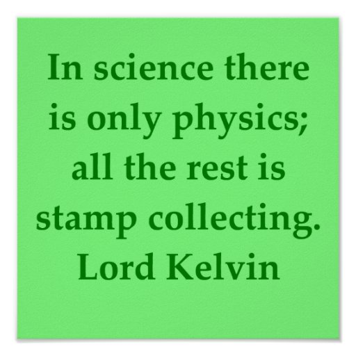 Lord Kelvin quote Print