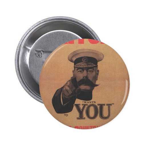 """""""Lord Kitchener Wants You"""" Button Badge"""