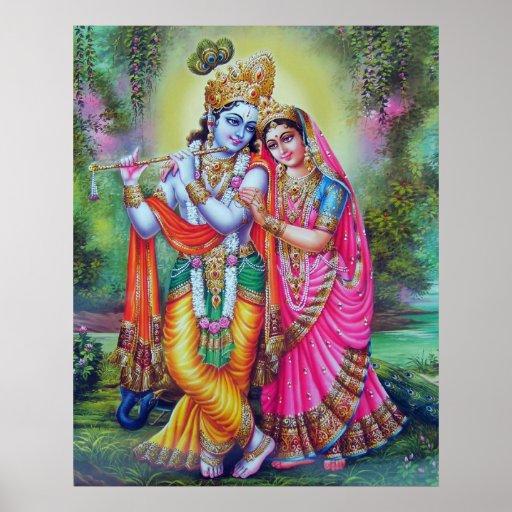 Lord Krishna & Radha Posters