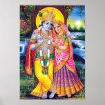 Lord Krishna & Radha Print