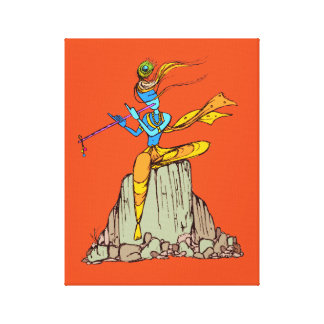 Lord Krishna with flute Canvas Print