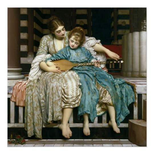 Lord Leighton's Music Lesson Poster