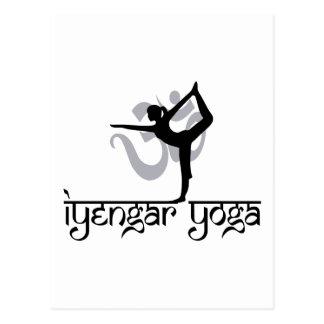 Lord of The Dance Pose Iyengar Yoga Gift Postcard