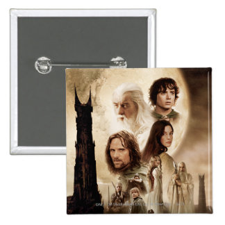 Lord of the Rings: The Two Towers Movie Poster 15 Cm Square Badge
