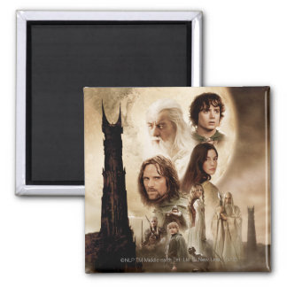 Lord of the Rings: The Two Towers Movie Poster Square Magnet