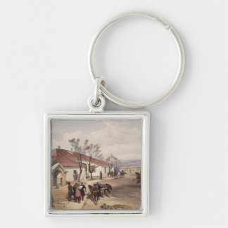Lord Raglan's Head Quarters at Khutur Karagatch, p Silver-Colored Square Key Ring