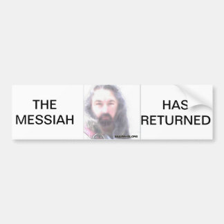 LORD RAYEL THE MESSIAH HAS RETURNED BUMPER STICKER