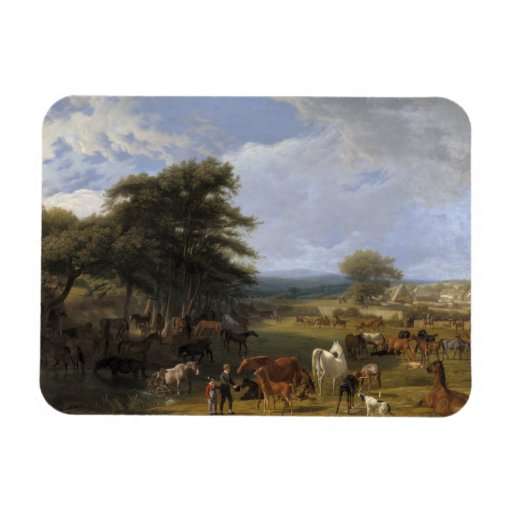 Lord River's Horse Farm oil on canvas Magnet