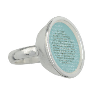 Lord s prayer ring christian jewelry gifts