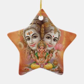 Lord Shiva Ceramic Star Decoration