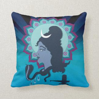 Lord Shiva Digital Illustration Mandala Art Cushion