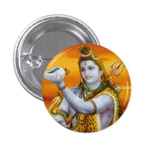Lord Shiva, Hindu God Button