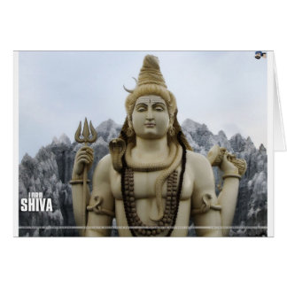 LORD SHIVA HINDU GOD GREETING CARD