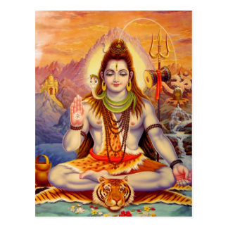 Lord Shiva Meditating Postcard