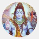 Lord Shiva Round Sticker