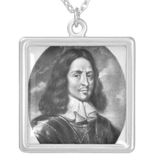 Lord Thomas Fairfax  illustration Silver Plated Necklace