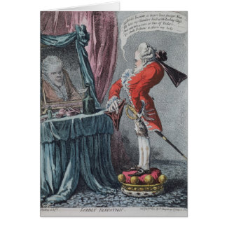Lordly Elevation, pub. by Hannah Humphrey, 1802 Card