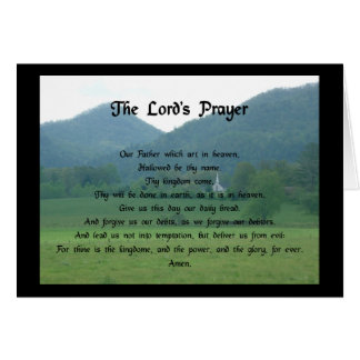 Lord's Prayer at Wolf Fork Valley Card