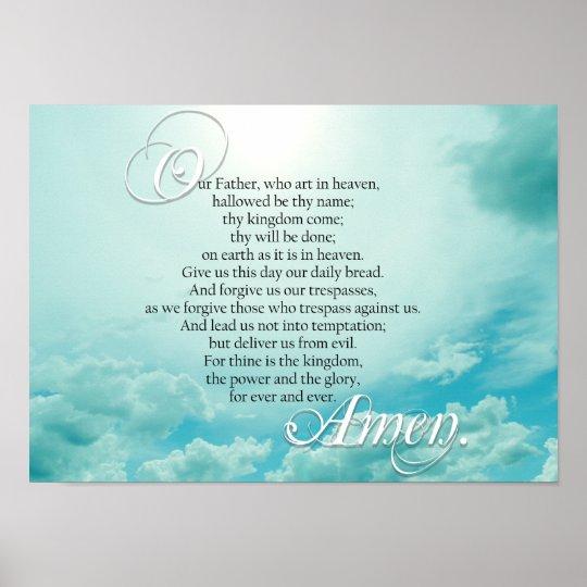 Lords Prayer Christian Spiritual Poster