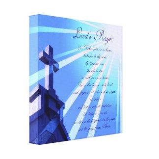 Lord's Prayer Design Canvas Print